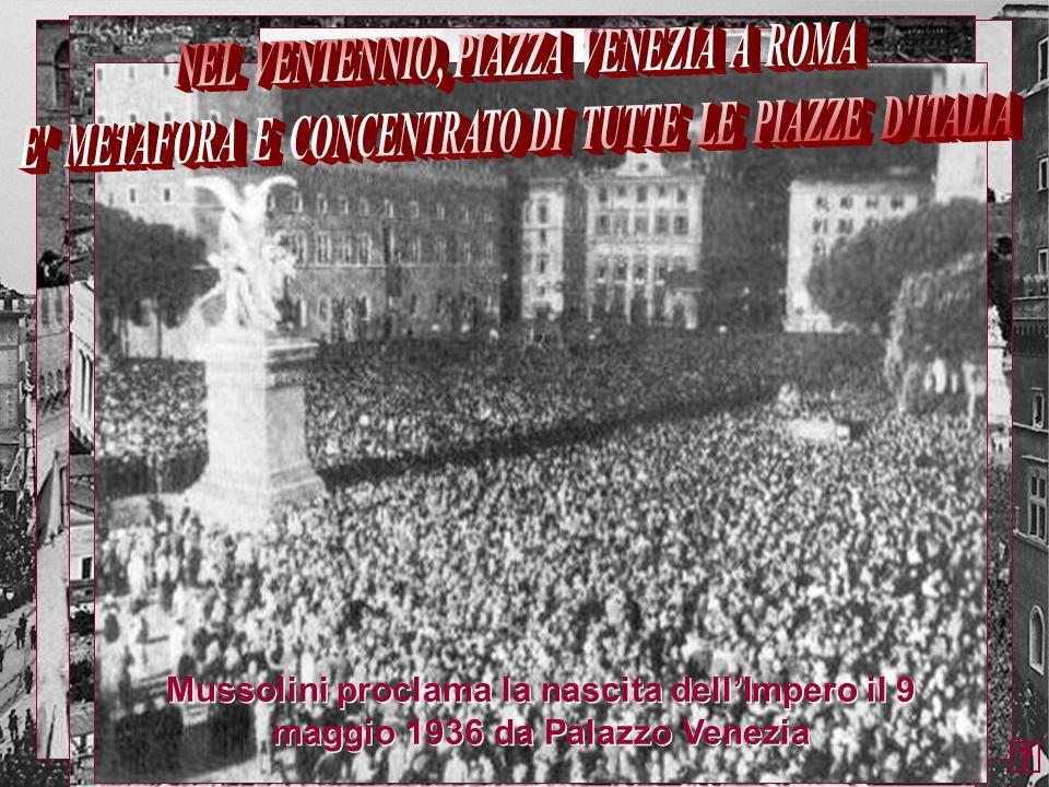 NEL VENTENNIO, PIAZZA VENEZIA A ROMA