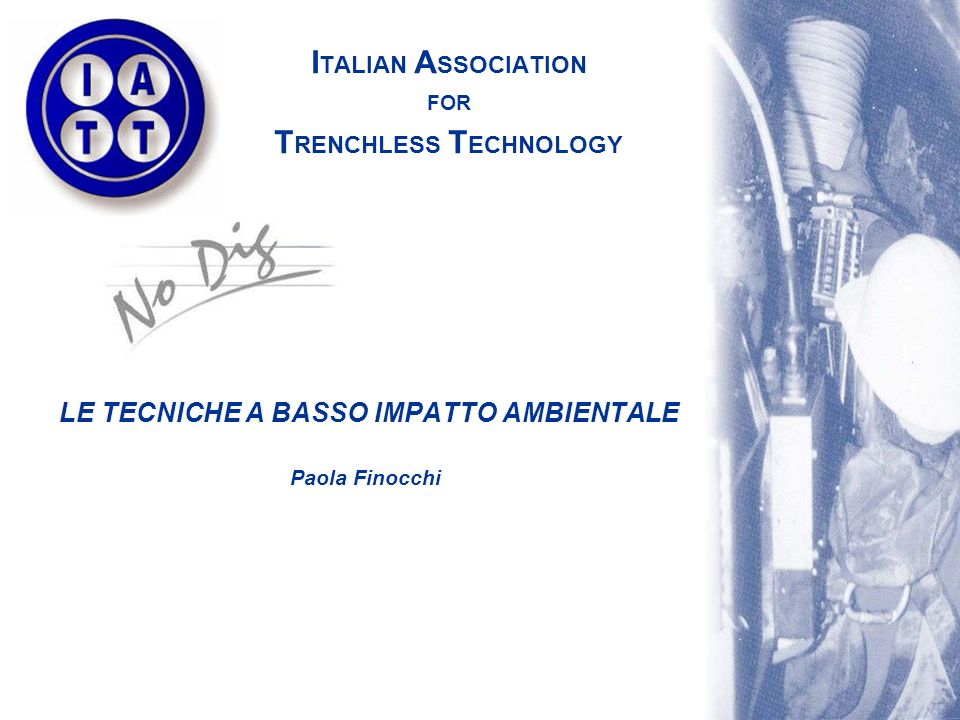 ITALIAN ASSOCIATION FOR TRENCHLESS TECHNOLOGY