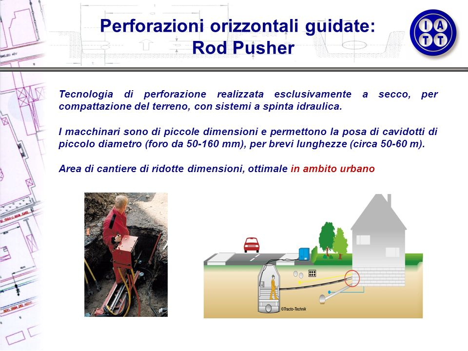 Perforazioni orizzontali guidate: Rod Pusher