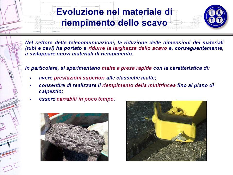 Evoluzione nel materiale di riempimento dello scavo