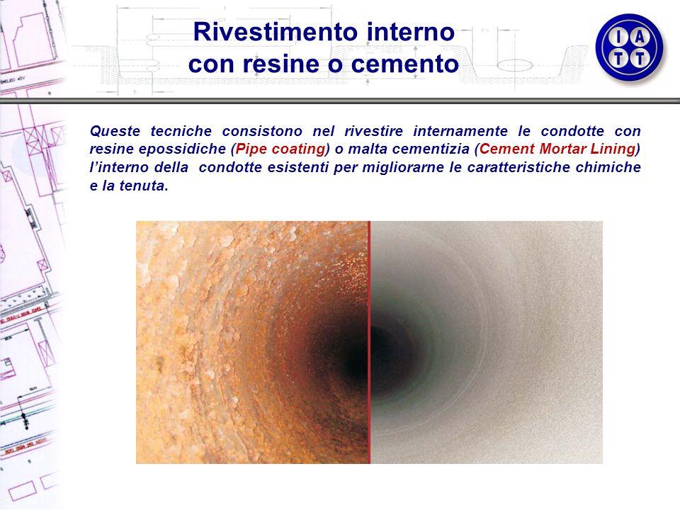 Rivestimento interno con resine o cemento