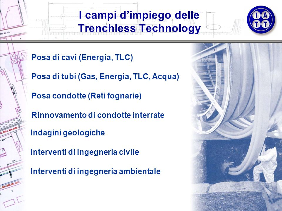 I campi d'impiego delle Trenchless Technology