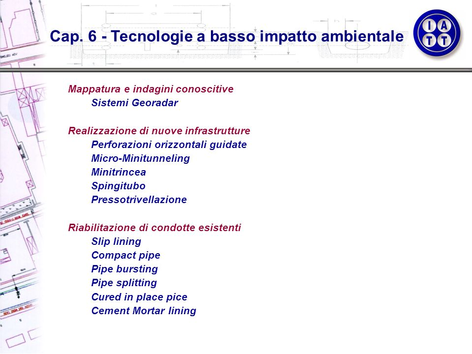 Cap. 6 - Tecnologie a basso impatto ambientale