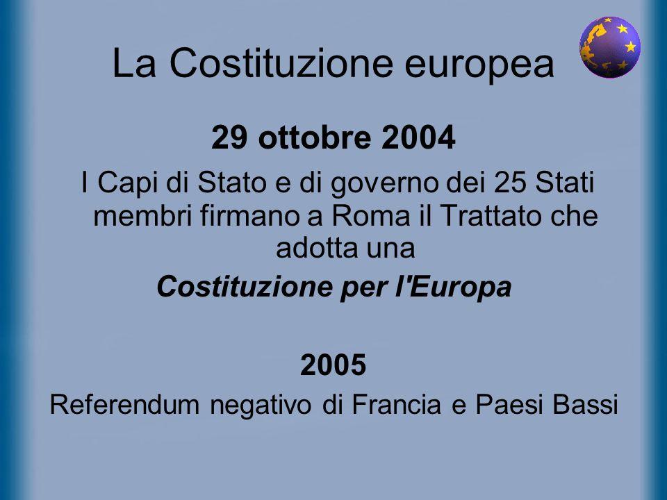 La Costituzione europea