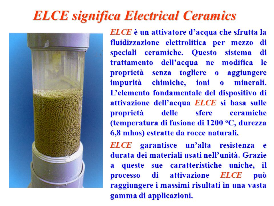 ELCE significa Electrical Ceramics
