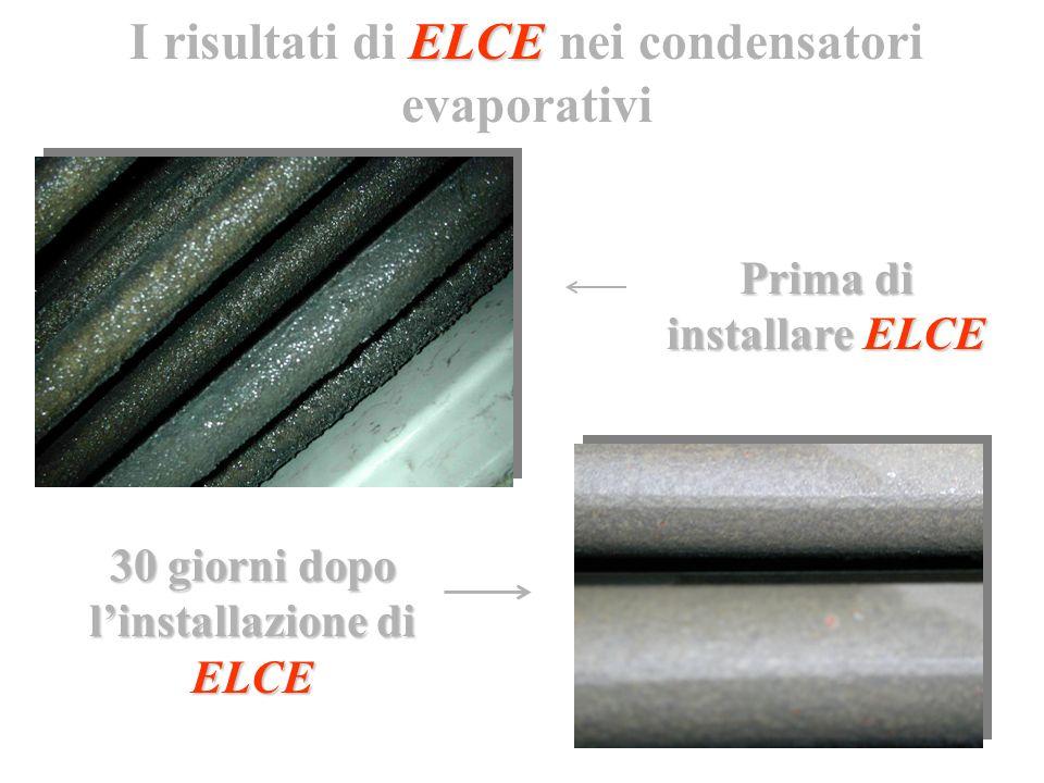 I risultati di ELCE nei condensatori evaporativi