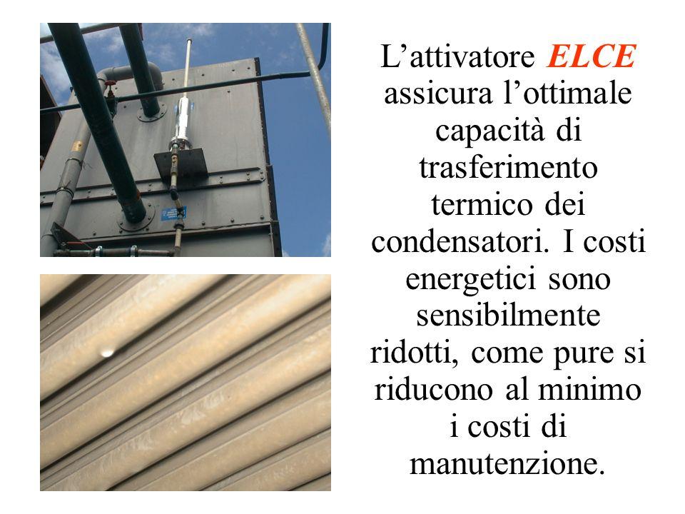 L'attivatore ELCE assicura l'ottimale capacità di trasferimento termico dei condensatori.