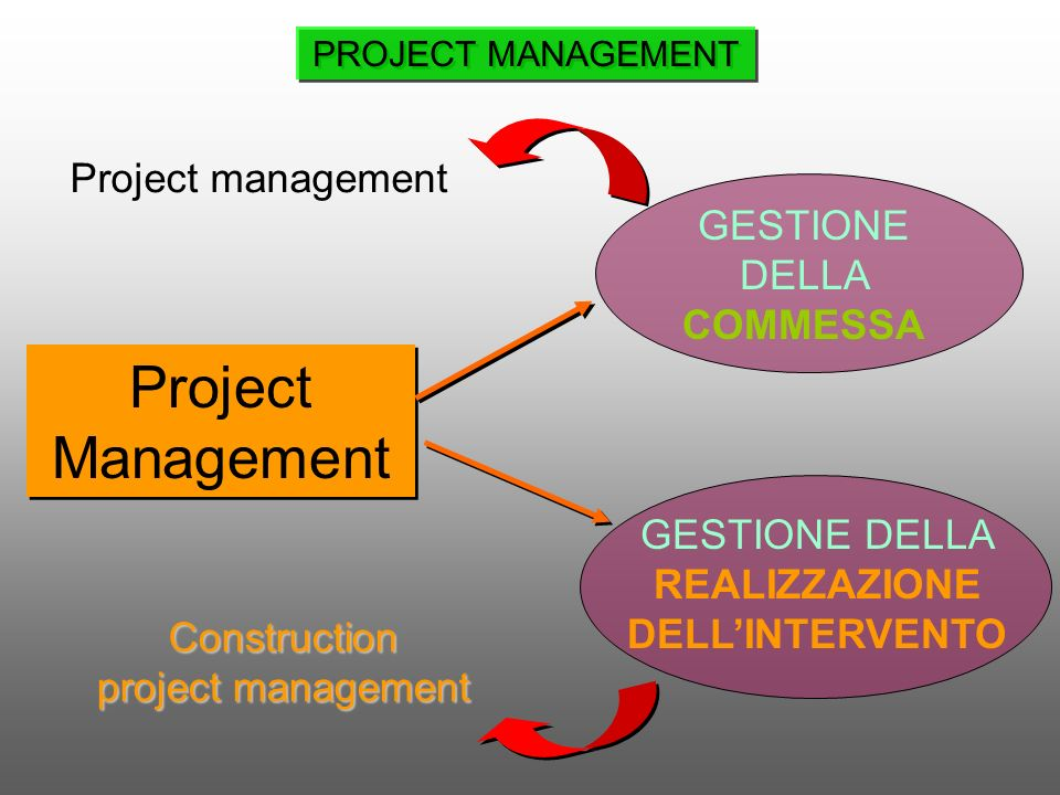 Project Management Project management GESTIONE DELLA COMMESSA