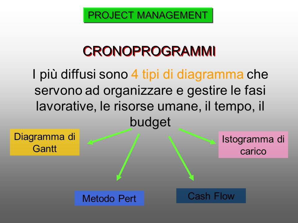 PROJECT MANAGEMENT CRONOPROGRAMMI.