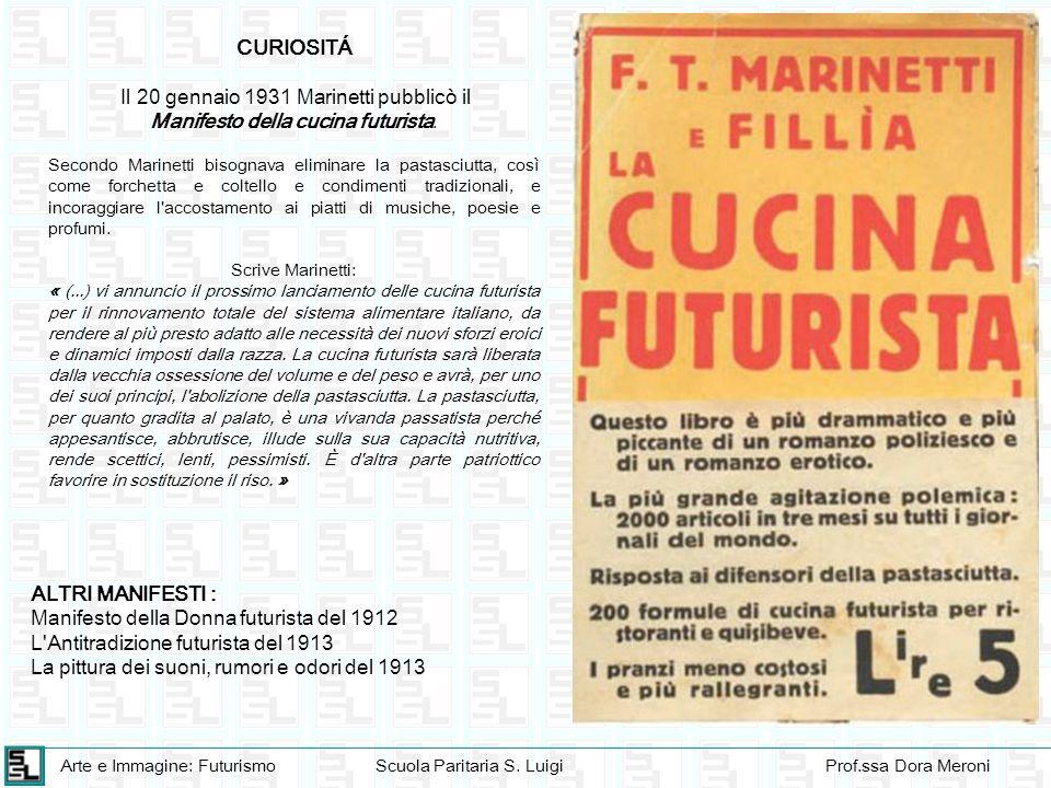 Manifesto della cucina futurista.