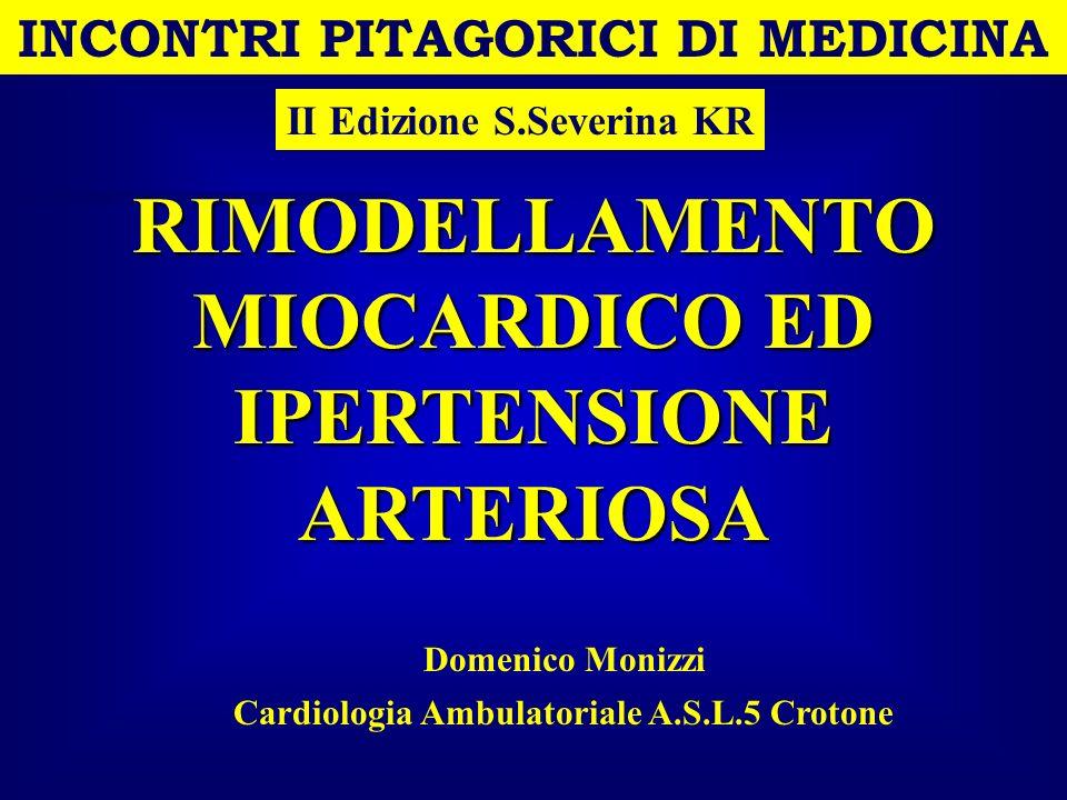 INCONTRI PITAGORICI DI MEDICINA IPERTENSIONE ARTERIOSA