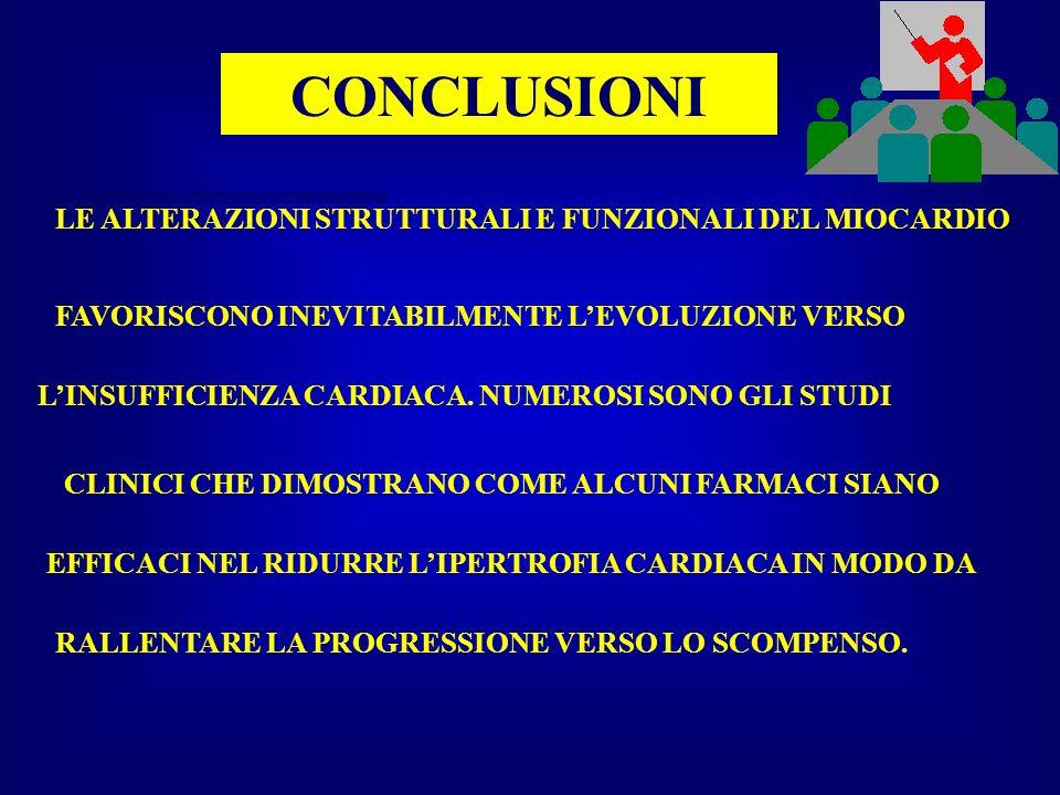 CONCLUSIONI LE ALTERAZIONI STRUTTURALI E FUNZIONALI DEL MIOCARDIO