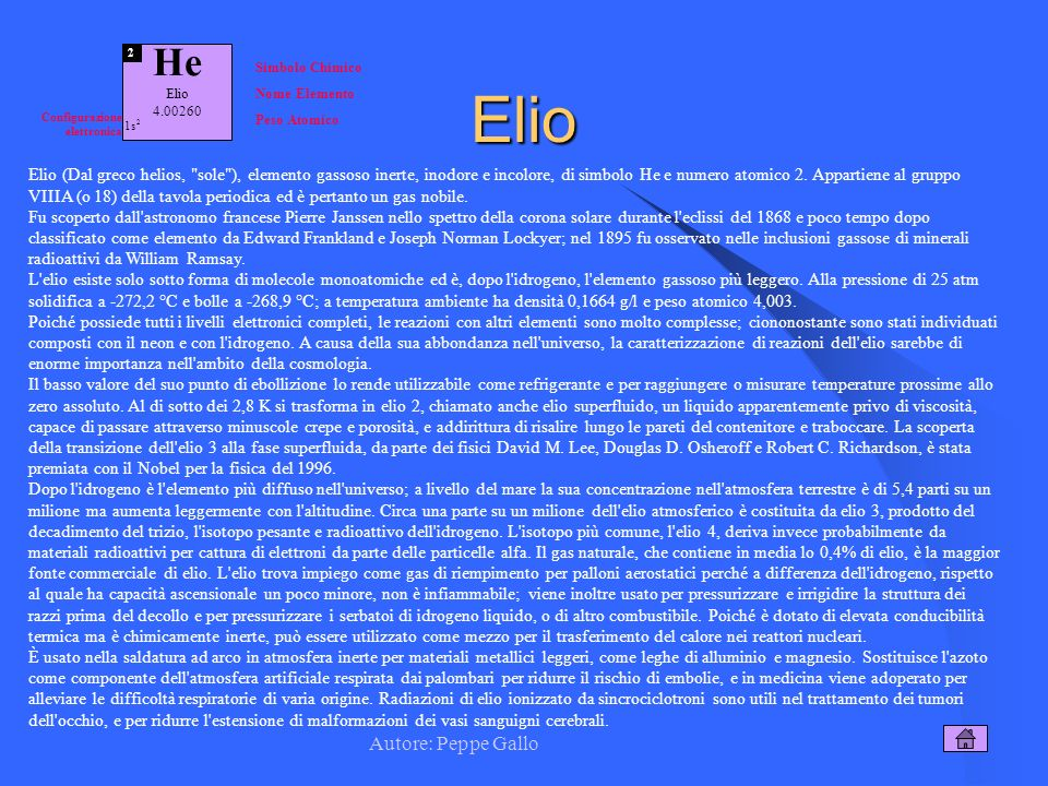 Elio He Autore: Peppe Gallo