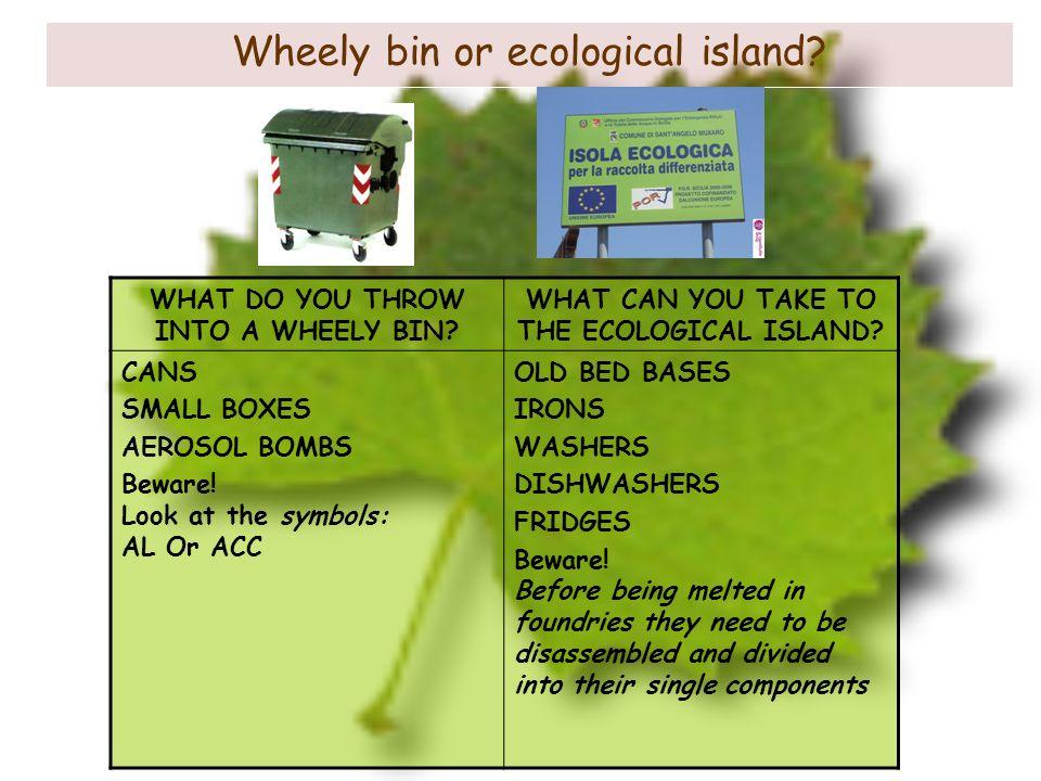 Wheely bin or ecological island