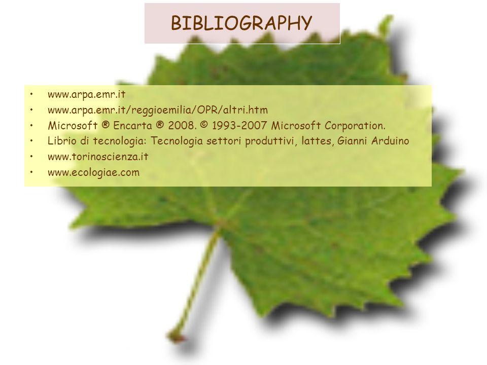 BIBLIOGRAPHY www.arpa.emr.it