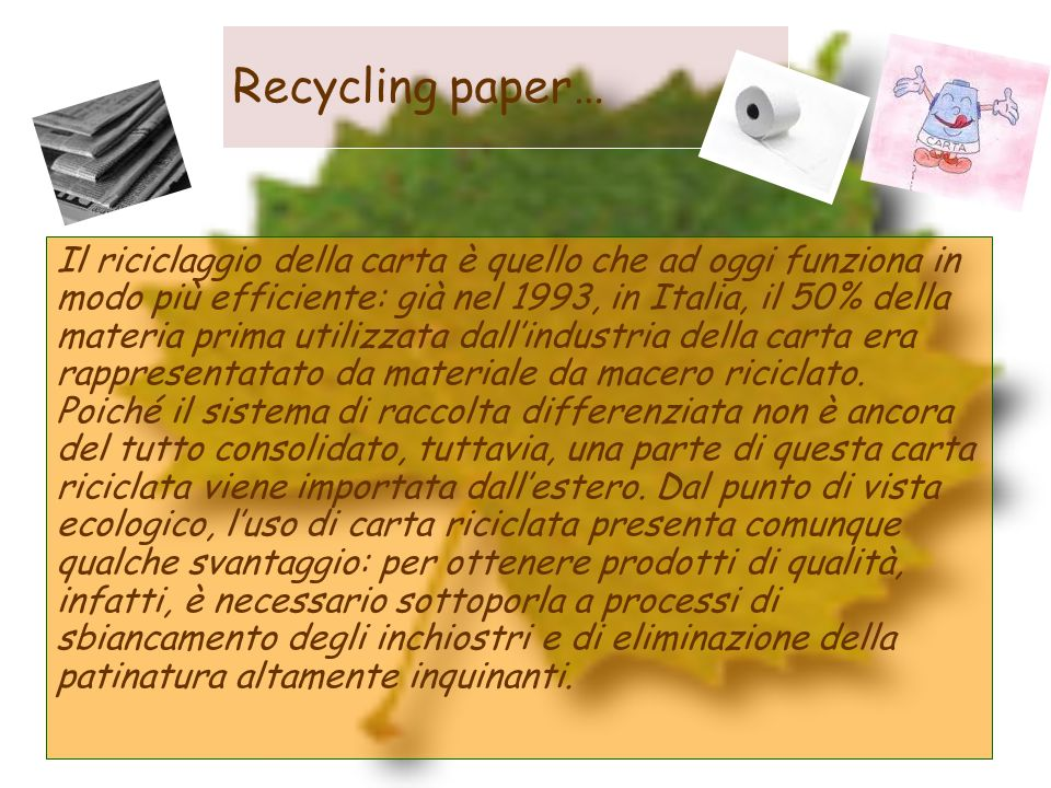 Recycling paper…