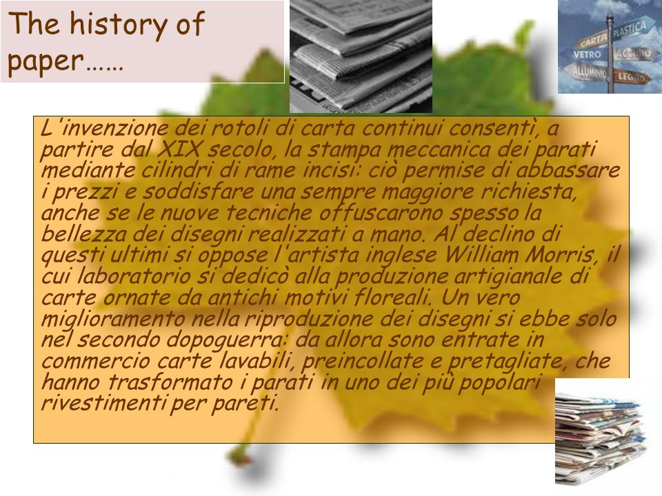 The history of paper……