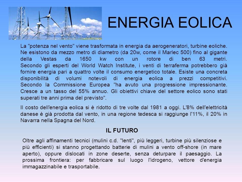 ENERGIA EOLICA IL FUTURO