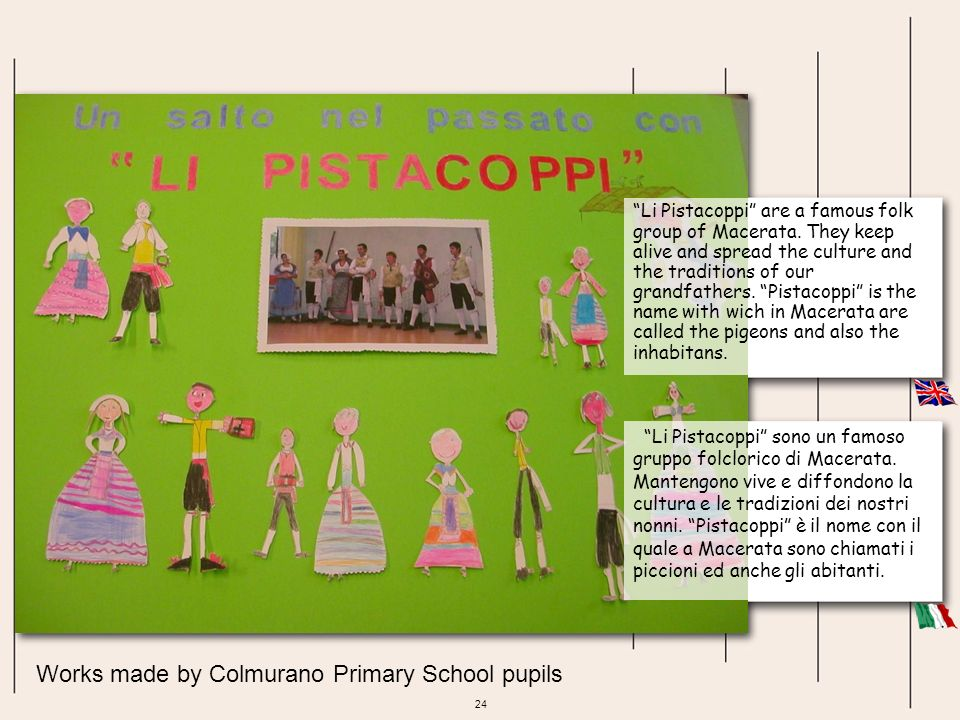 Works made by Colmurano Primary School pupils