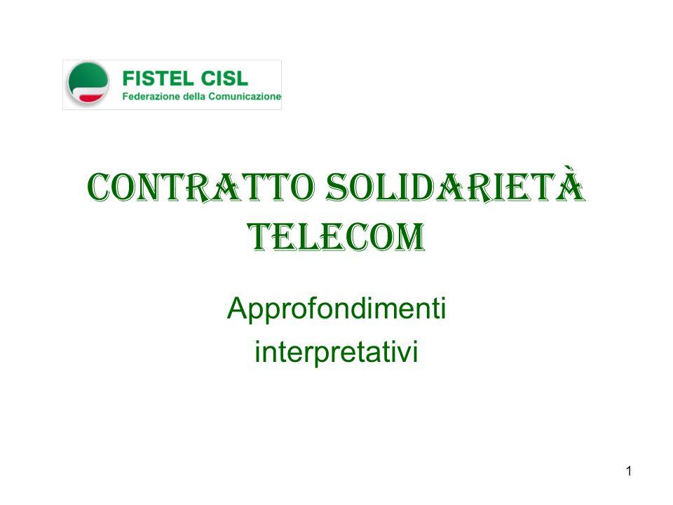 Contratto Solidarietà Telecom
