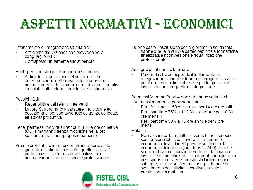 Aspetti normativi - economici