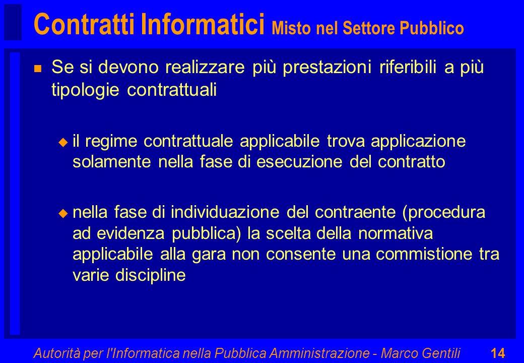 Contratti Informatici Misto nel Settore Pubblico