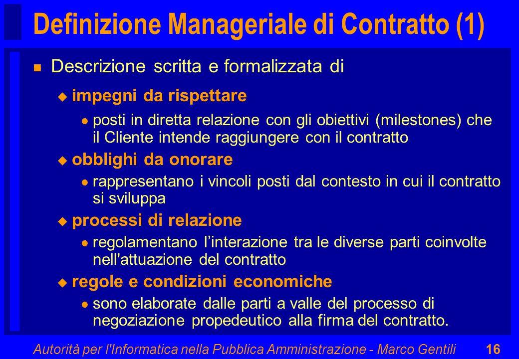 Definizione Manageriale di Contratto (1)