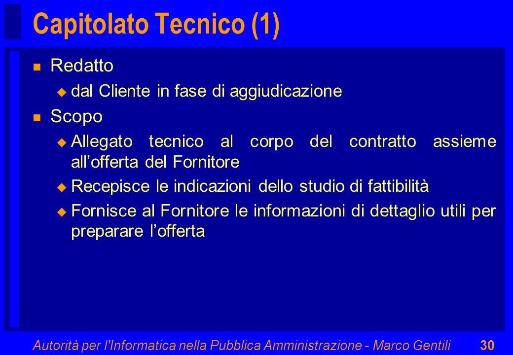 Capitolato Tecnico (1) Redatto Scopo