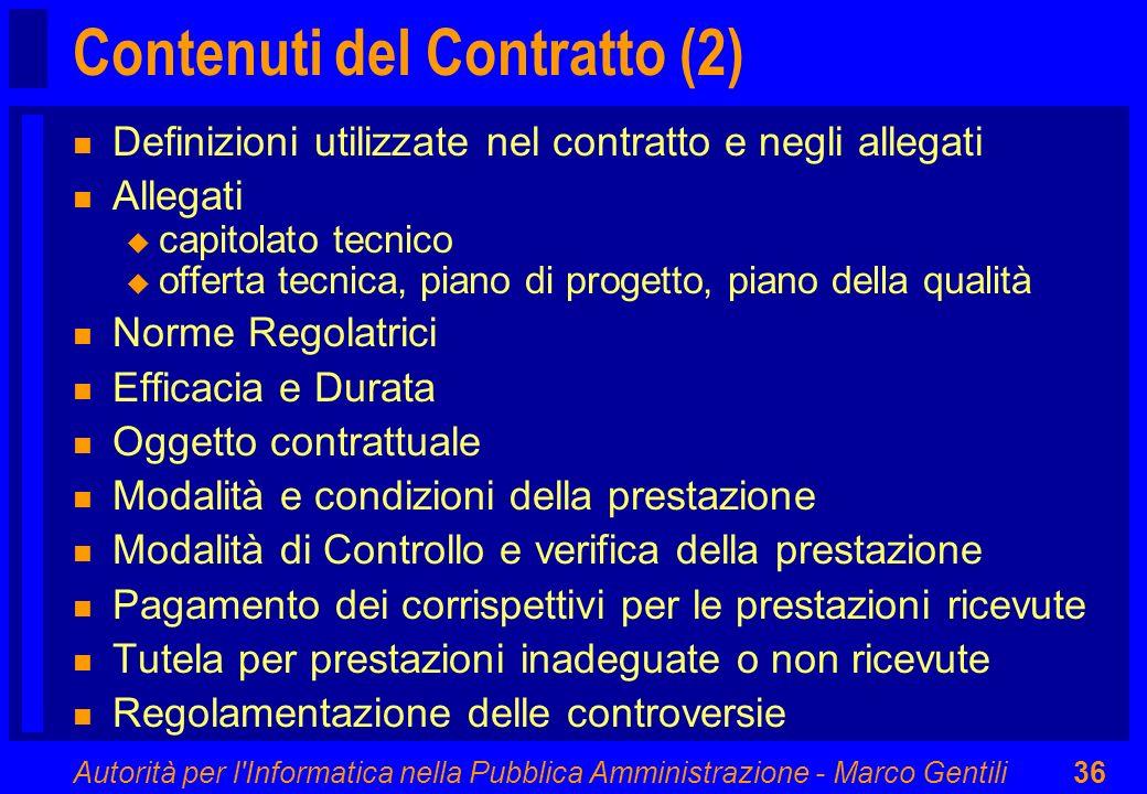 Contenuti del Contratto (2)