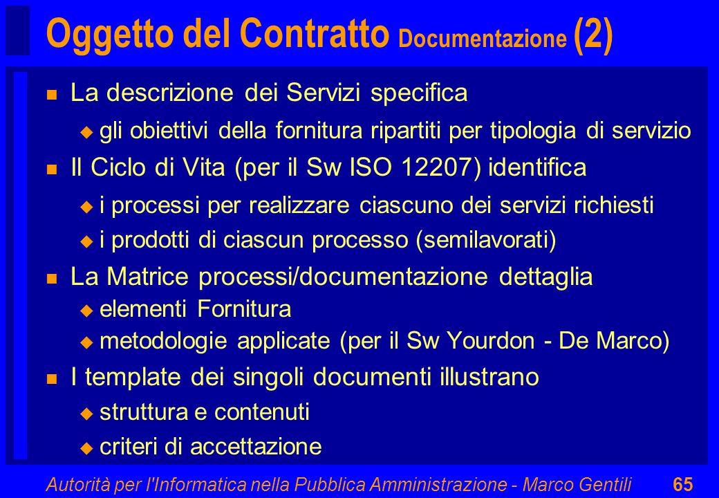 Oggetto del Contratto Documentazione (2)