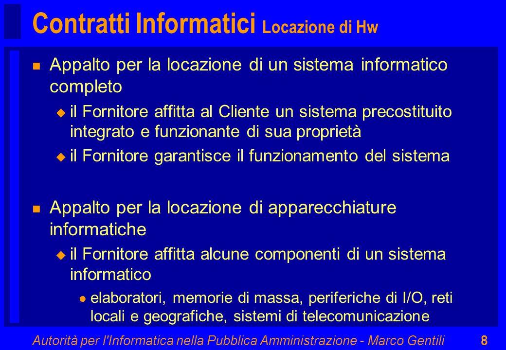 Contratti Informatici Locazione di Hw
