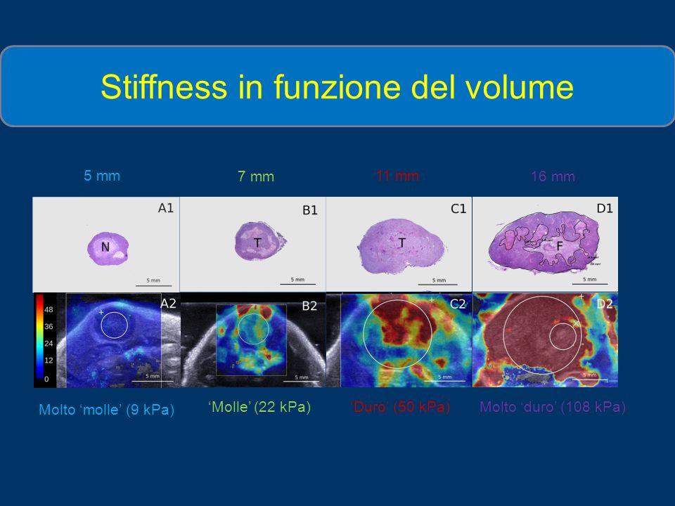 Stiffness in funzione del volume