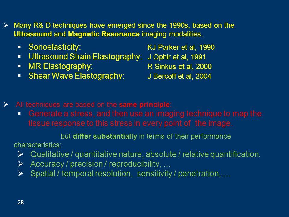 Sonoelasticity: KJ Parker et al, 1990