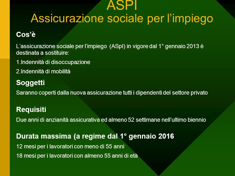 ASPI Assicurazione sociale per l'impiego