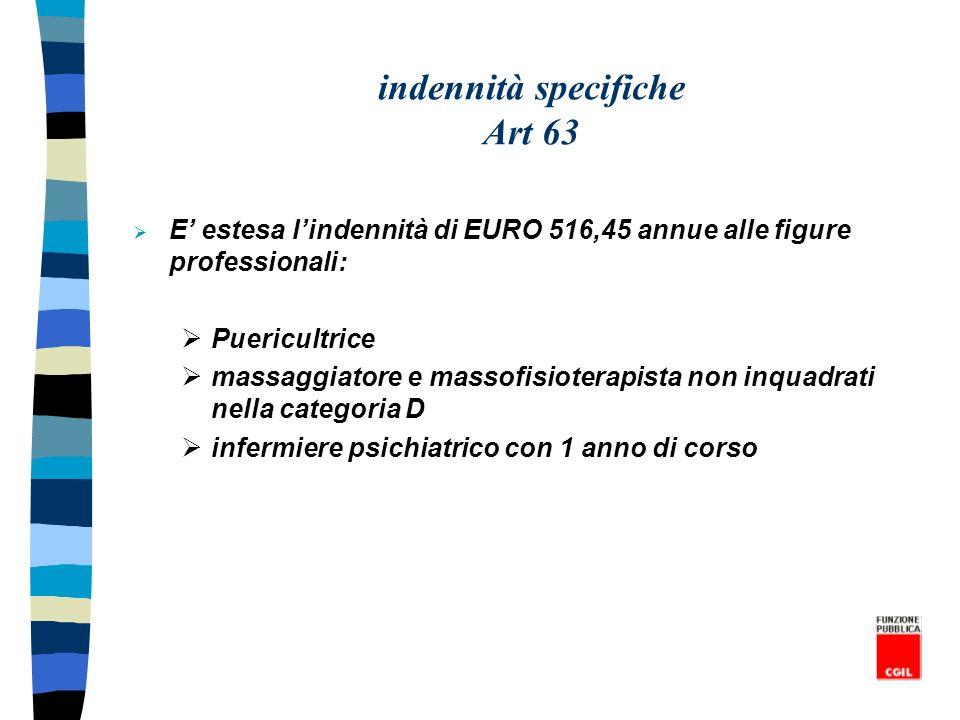 indennità specifiche Art 63