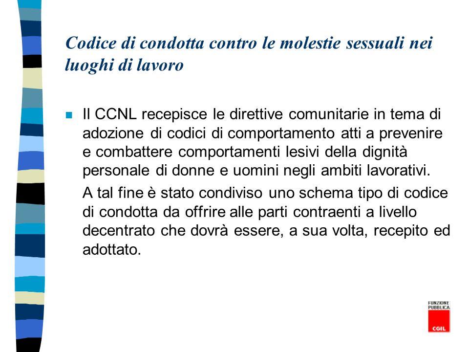 Codice di condotta contro le molestie sessuali nei luoghi di lavoro