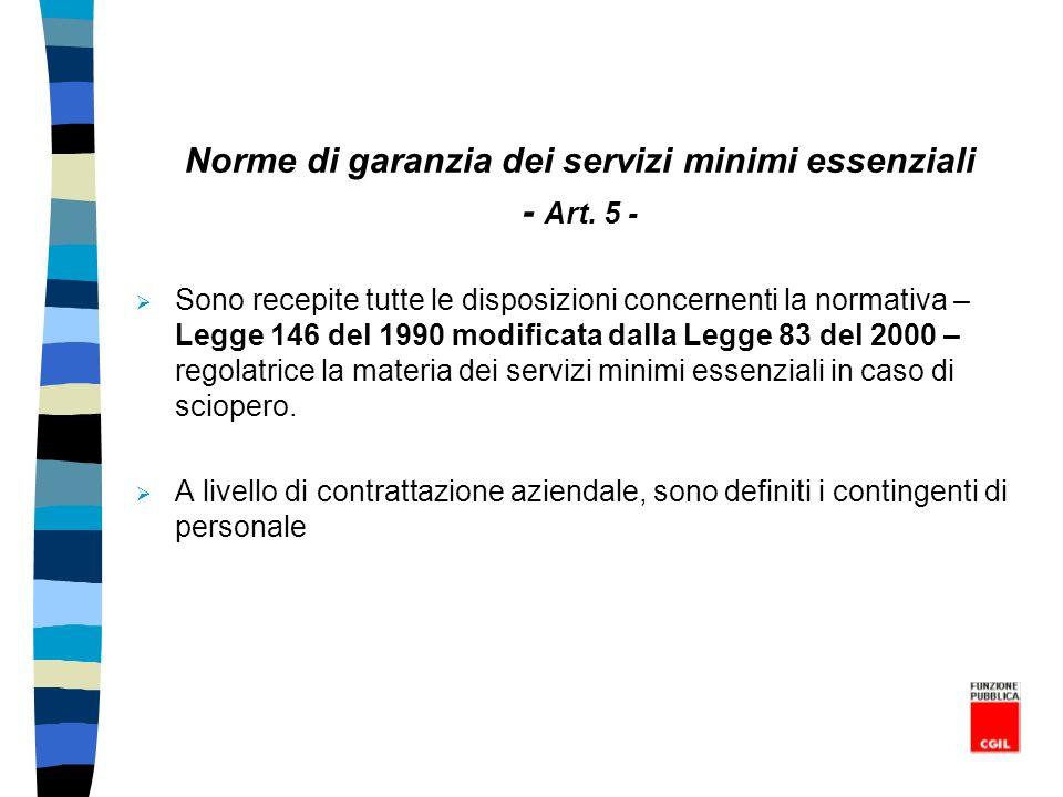Norme di garanzia dei servizi minimi essenziali