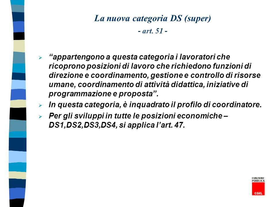 La nuova categoria DS (super) - art. 51 -
