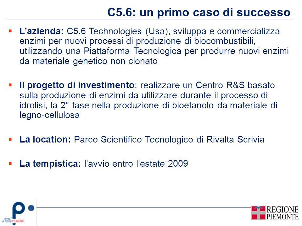 C5.6: un primo caso di successo