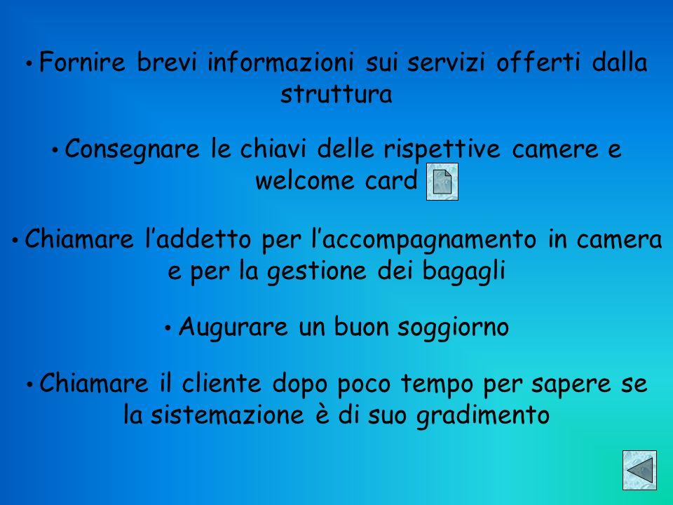 Fornire brevi informazioni sui servizi offerti dalla struttura