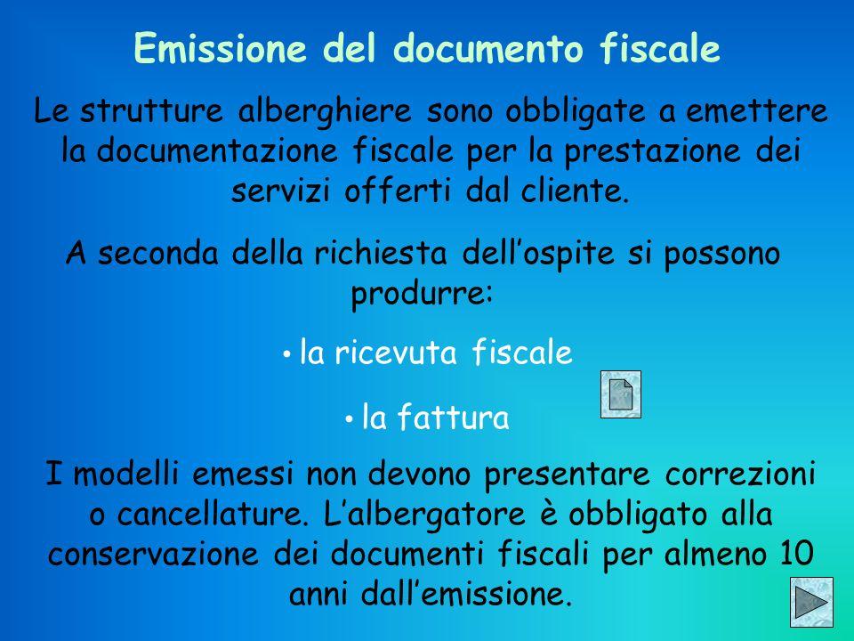 Emissione del documento fiscale