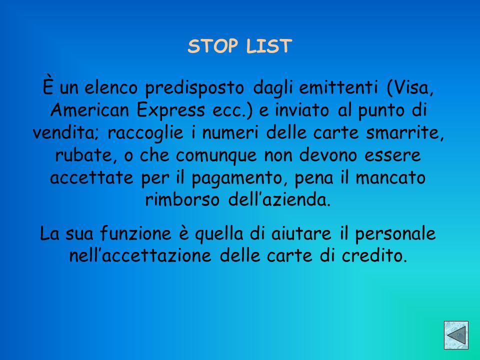 STOP LIST