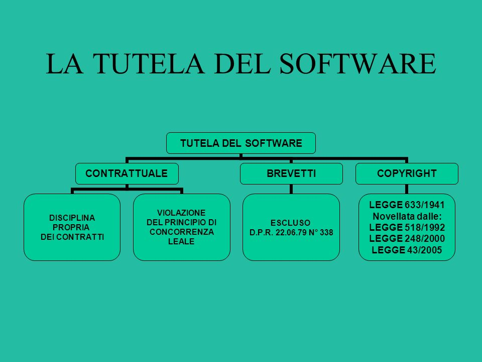 LA TUTELA DEL SOFTWARE
