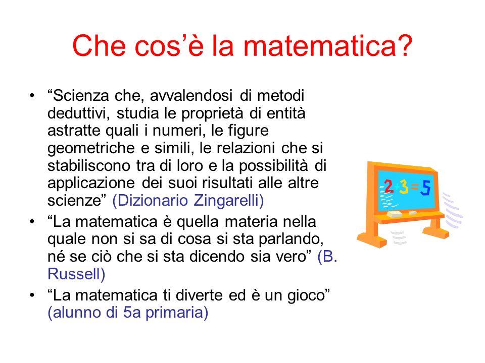 Che cos'è la matematica