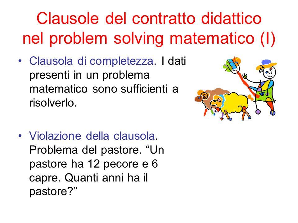 Clausole del contratto didattico nel problem solving matematico (I)