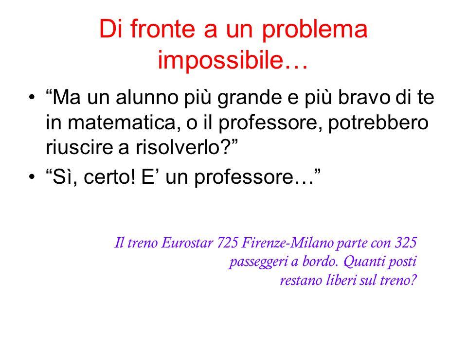 Di fronte a un problema impossibile…
