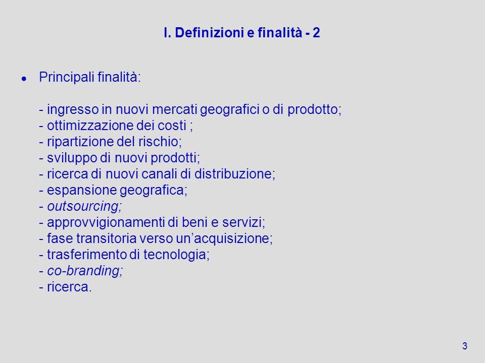 I. Definizioni e finalità - 2