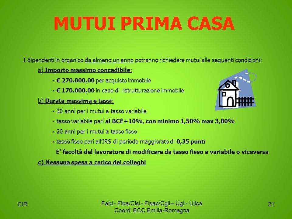 Piattaforma Contratto Integrativo BCC Emilia-Romagna