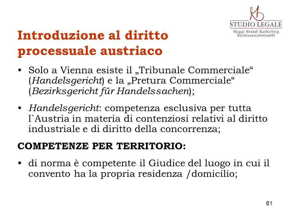 Introduzione al diritto processuale austriaco
