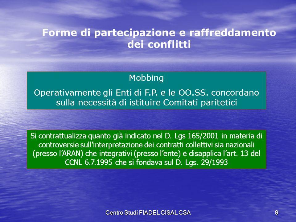 Forme di partecipazione e raffreddamento dei conflitti